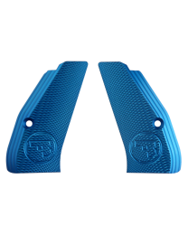 ALUMINUM GRIPS CHECKERED COMPACT BLUE CZUB