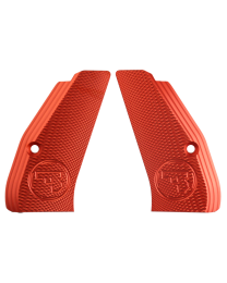 ALUMINUM GRIPS CHECKERED COMPACT RED CZUB
