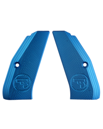 ALUMINUM GRIPS FULL SIZE LONG BLUE CZUB