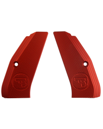 ALUMINUM GRIPS FULL SIZE LONG RED CZUB