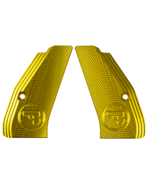 ALUMINUM GRIPS CHECKERED COMPACT GOLD CZUB