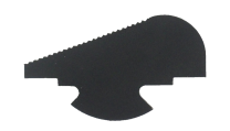 SERRATED FRONT SIGHT FOR REVOLVERS